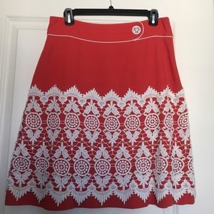 Lace Overlay skirt from Anthropologie size 4